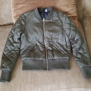 Divided H&M olive green bomber jacket